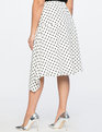 Polka Dot Asymmetric Skirt Polka League