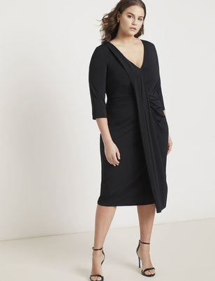 Jason Wu/ELOQUII Draped Front Dress