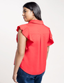 Flutter Sleeve with Collar Barbados Cherry