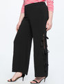 Side Tie Wide Leg Trouser Totally Black
