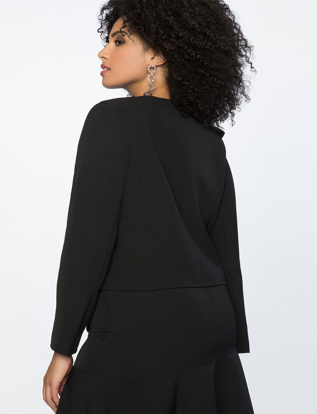 Bow Detail Crop Jacket