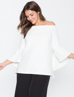 Flounce Sleeve Off  the Shoulder Top