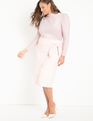 Lurex Knit Tee with Draped Shoulder Blush