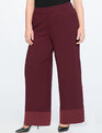 Wide Leg Satin Cuff Trouser Port Royal