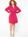 Belted Blazer Dress Very Berry