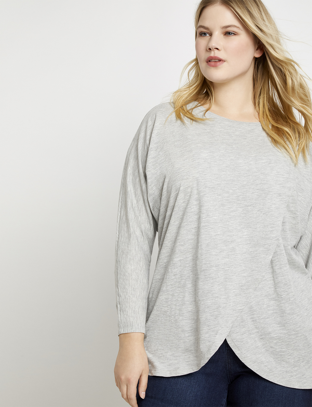 dac68810b2fb Dolman Sleeve Wrapped Tunic | Women's Plus Size Tops | ELOQUII