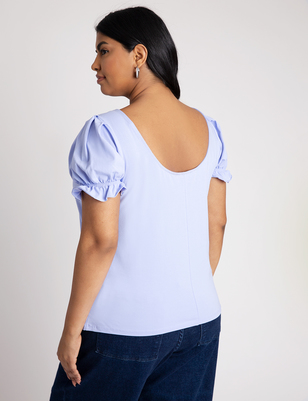 Puff Sleeve Scoop Neck Tee