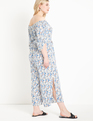 Drama Sleeve Strapless Jumpsuit Meadowsweet