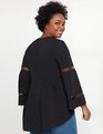 Hi Lo Popover with Bell Sleeves Black