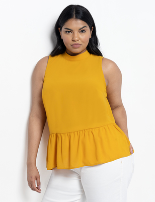 Tie Back Peplum Top