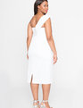 Sweetheart One Shoulder Dress WHITE