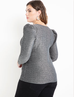 Puff Sleeve Sparkle Top