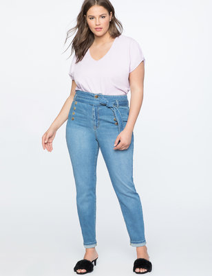 High Waist Jean with Self Tie