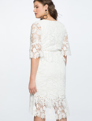 Lace Dress with Stud Details