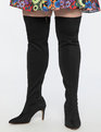 Amelia Over The Knee Boot Black