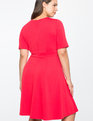 Elbow Sleeve Fit and Flare Dress Lollipop