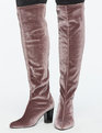 Zelinda Over the Knee High Heel Boot Mauve