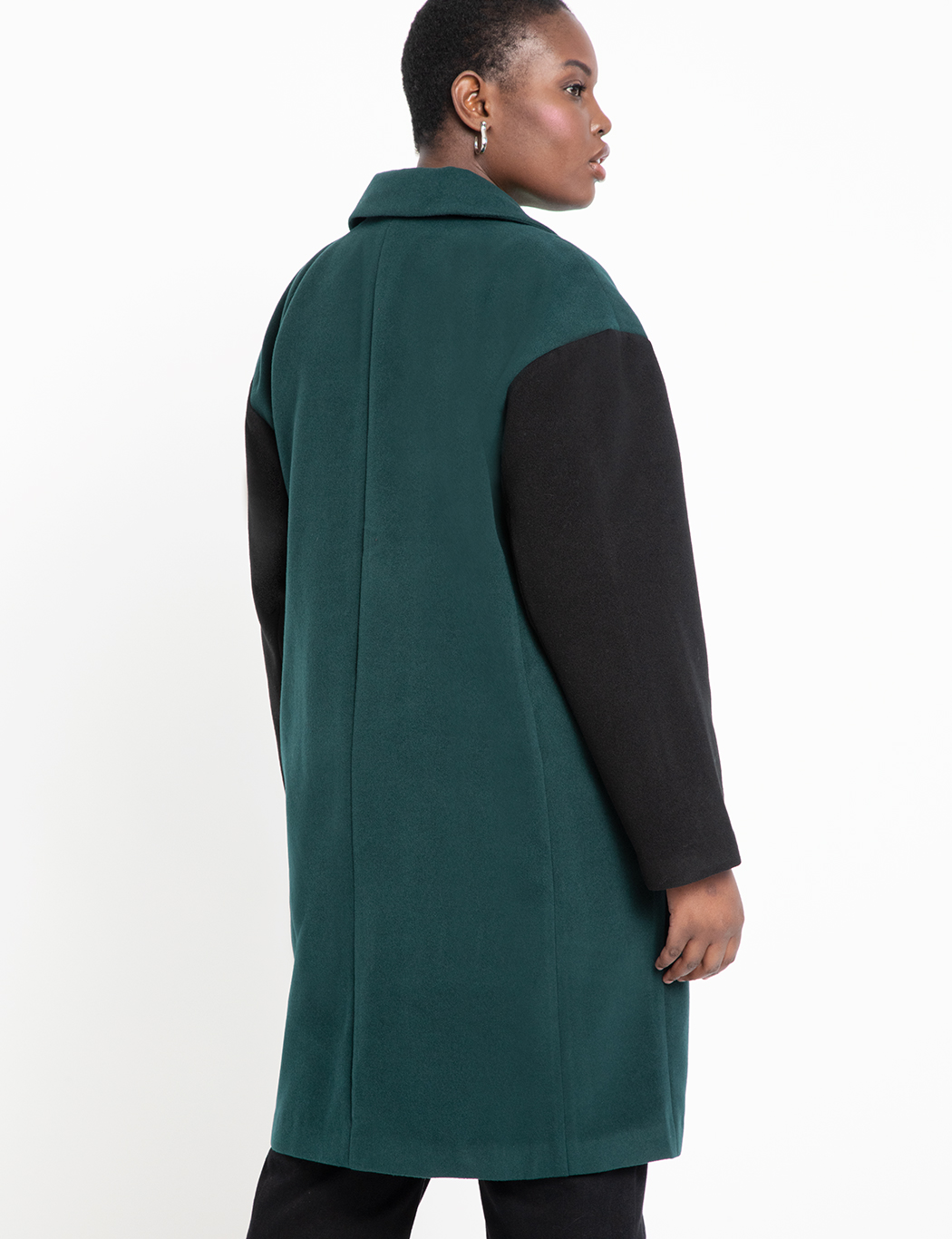 Double-Breasted Colorblock Coat