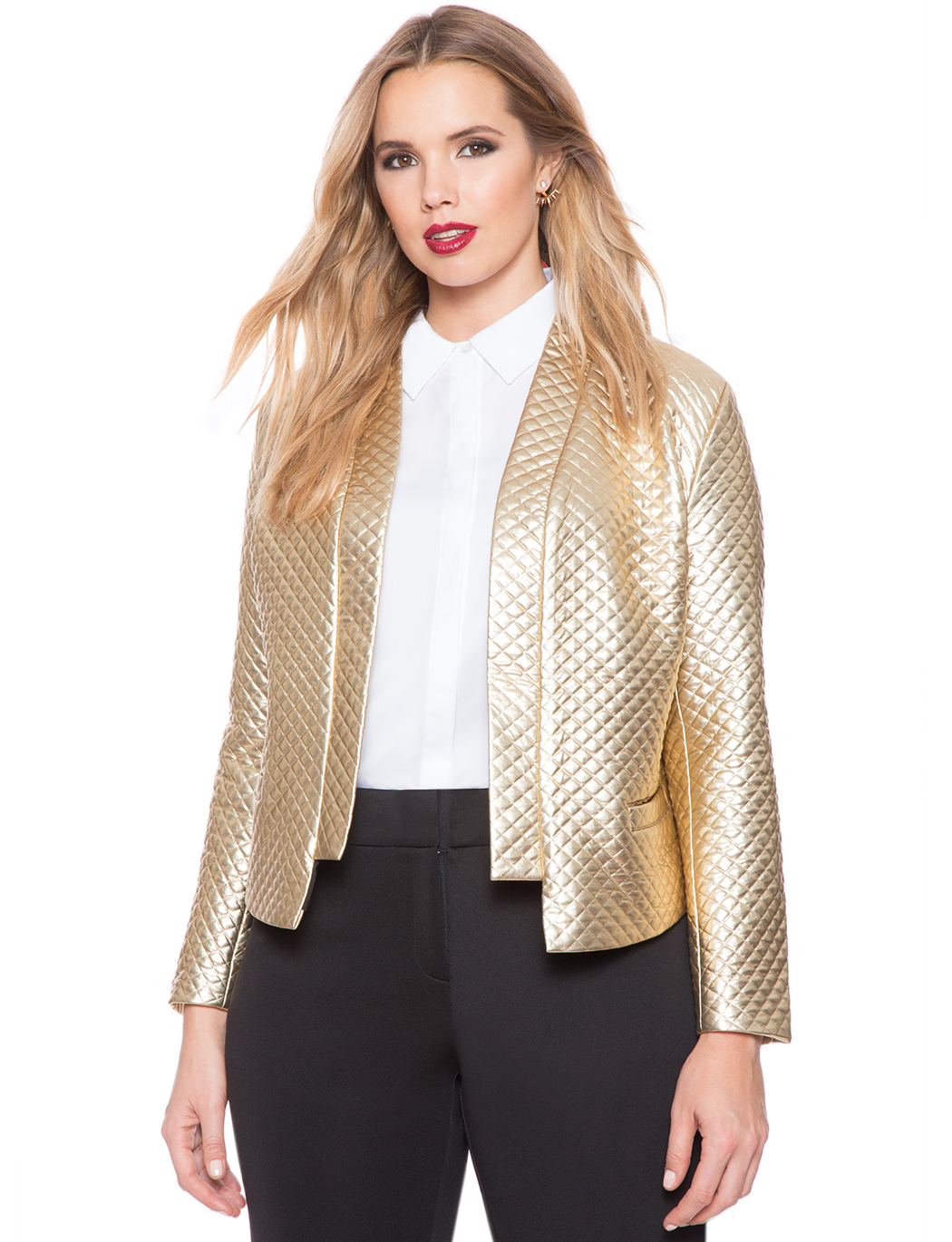Quilted Metallic Jacket | Women's Plus Size Coats   Jackets | ELOQUII