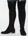 Fifi Flat Over The Knee Boot Black