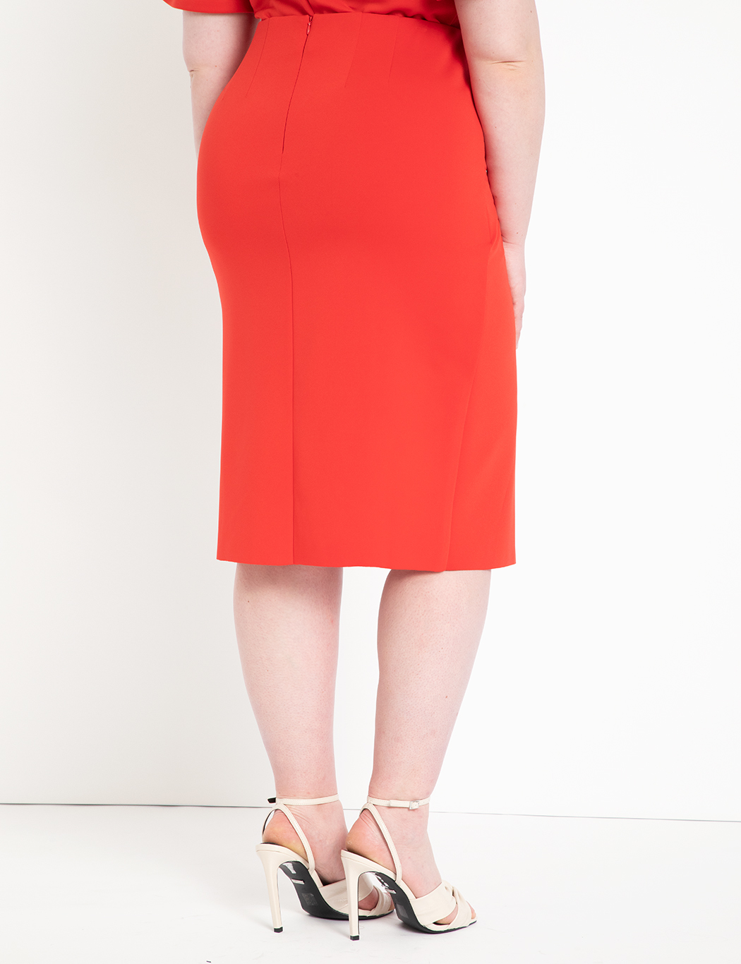 Drama Ruffle Pencil Skirt