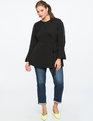 Split Sleeve Wrap Top Totally Black