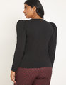 Dramatic Puff Long Sleeve Tee Black