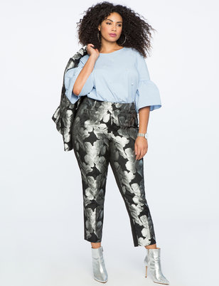 Kady Fit Metallic Brocade Pant