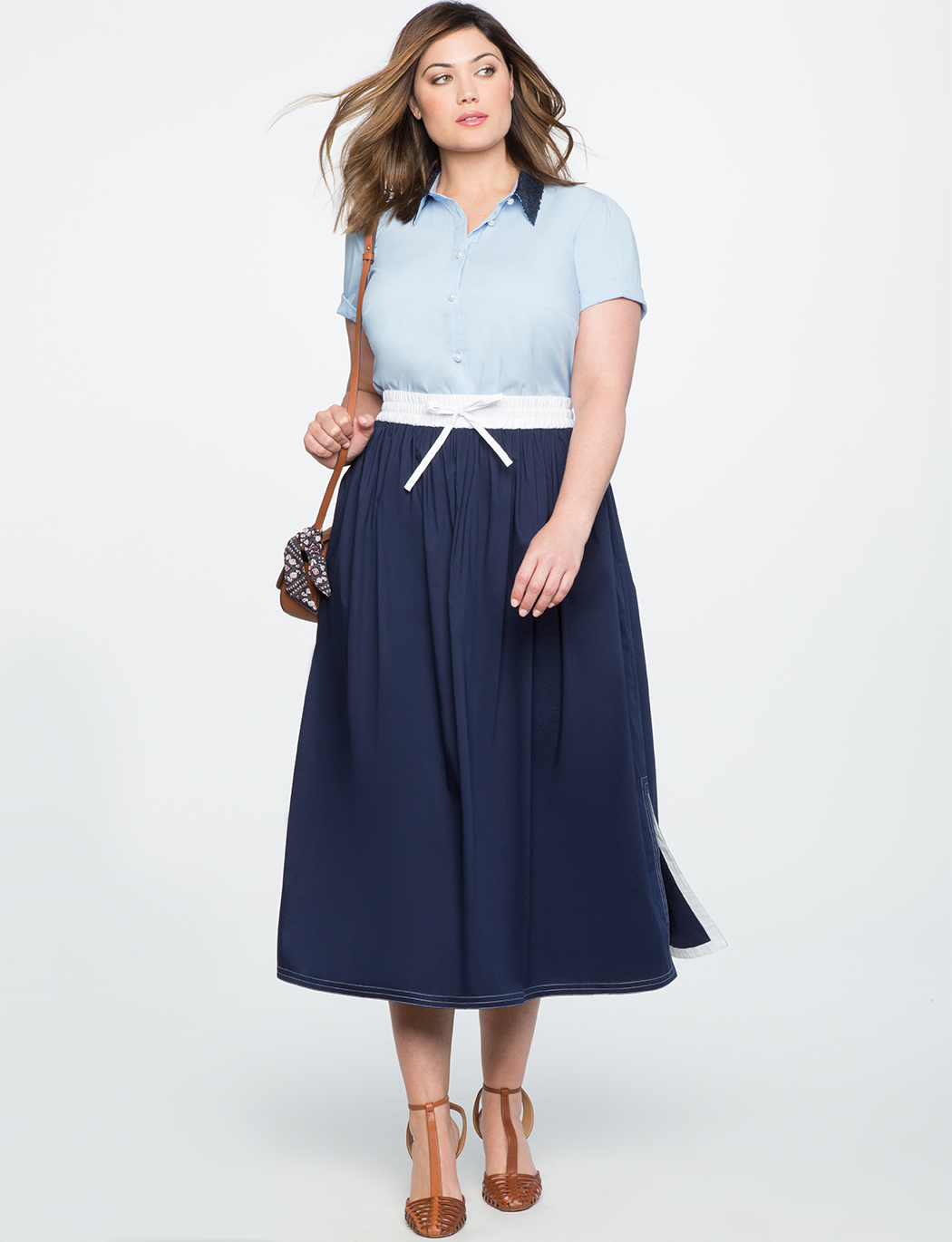 Color Block Sporty Skirt