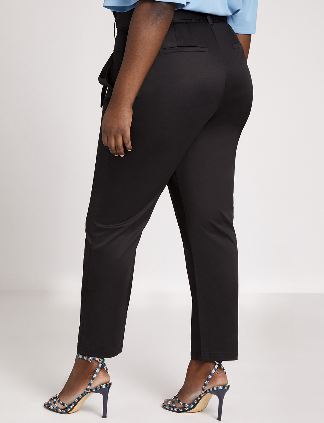Paperbag Waist Trouser with Tie Detail