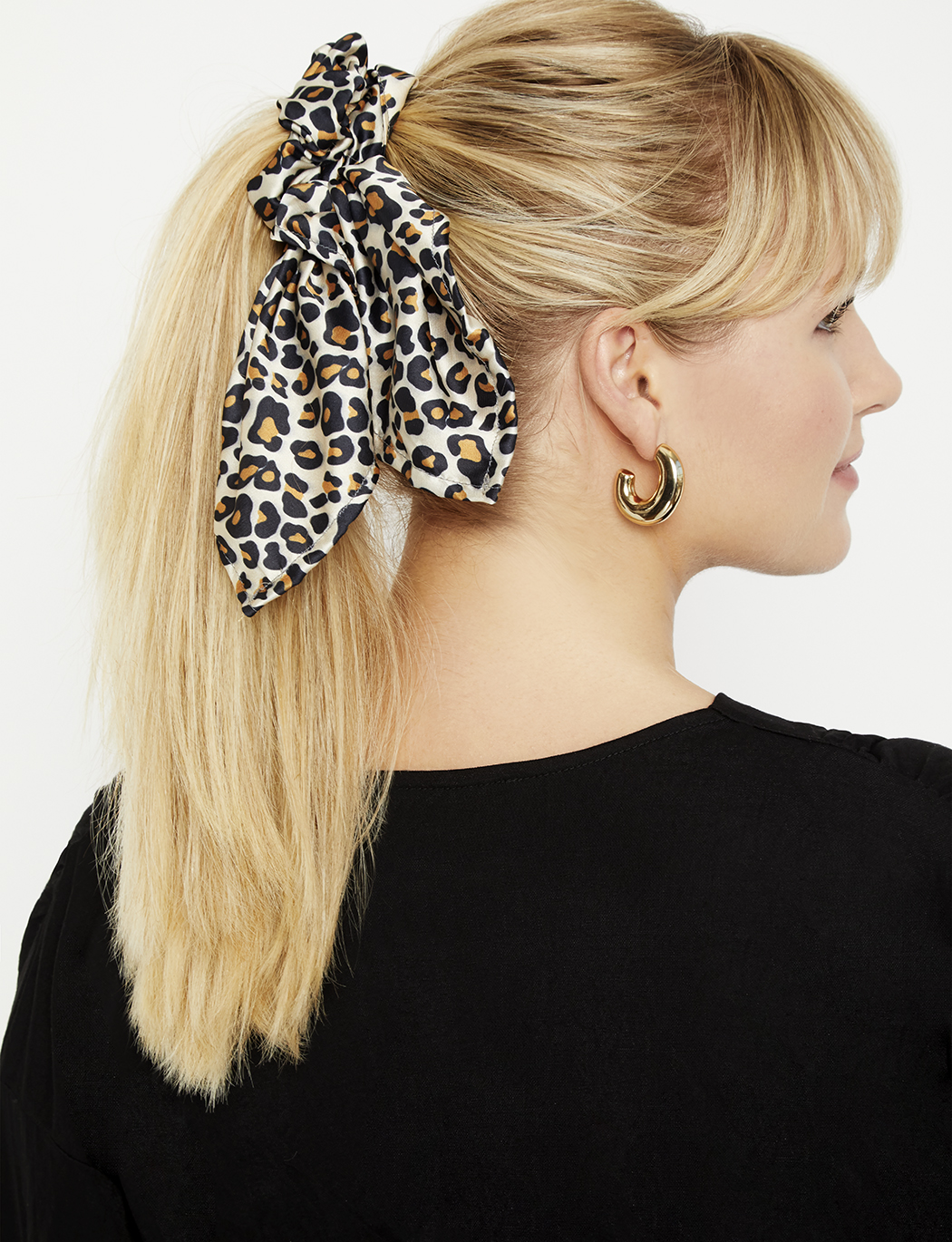 Leopard Scrunchie with Tie