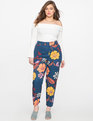 Kady Fit Printed Crepe Pant Fresh Bouquet