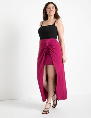 Knot Detail Wrap Skirt