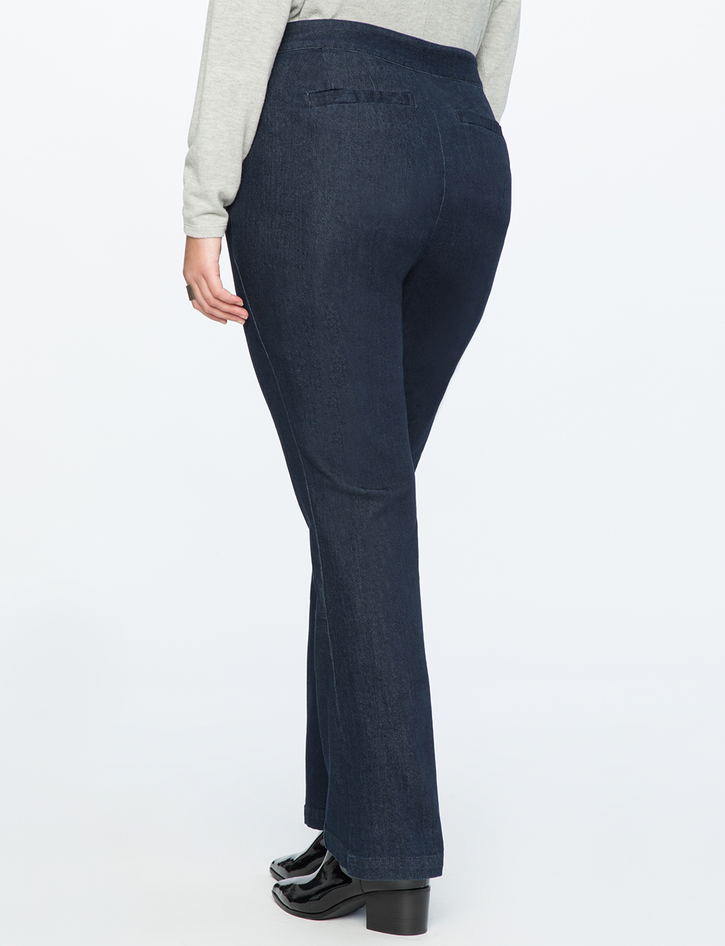 Straight Leg Pintuck Trouser Jean