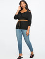Off the Shoulder Tie Strap Cardigan TOTALLY BLACK