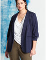 Essential Soft Blazer with Gathered Sleeve Maritime Blue