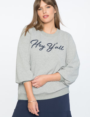 Draper James for ELOQUII Hey Y'all Sweatshirt