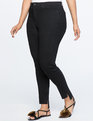 Peach Lift Step-Hem Skinny Jean Black