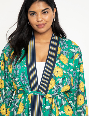 Floral Print Duster