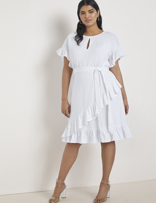 747eeaea24 Short Sleeve Ruffle Dress ...