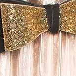 Black with Gold Sequin