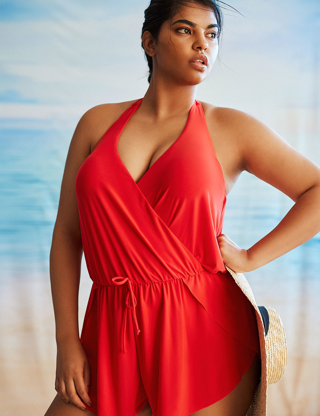Wrap Front Romper Swimsuit
