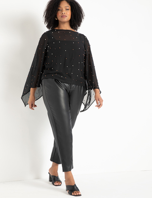 Flare Sleeve Pearl Top