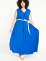 Belted Maxi Dress Plava