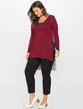 Sporty Mixed Media Tunic Vivid Auburn / Dark Oxford / Charcoal Grey