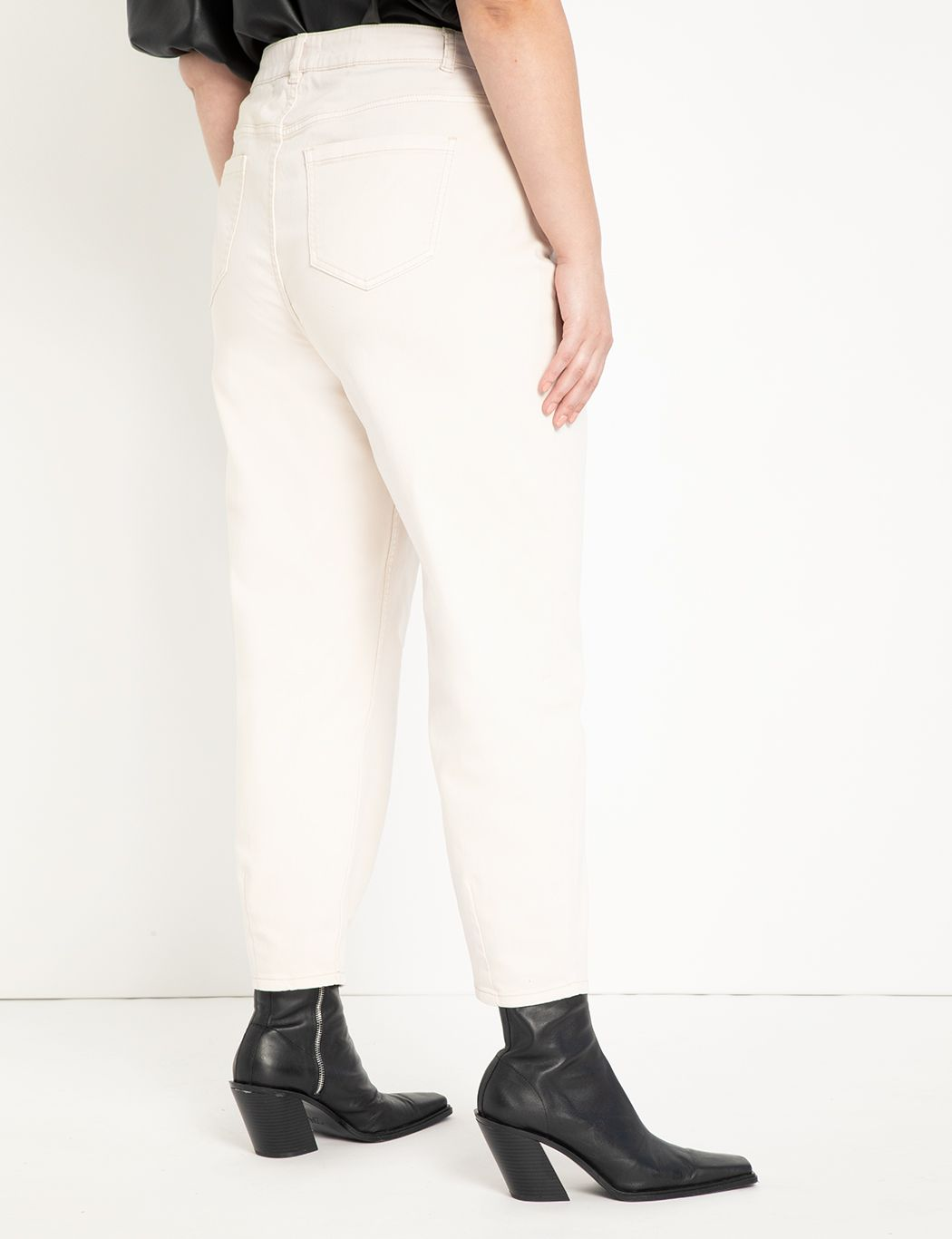 High Waisted Pleat Front Jeans