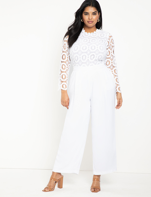 Lace Wide Leg Jumpsuit