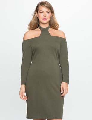 High Neck Fitted Dress