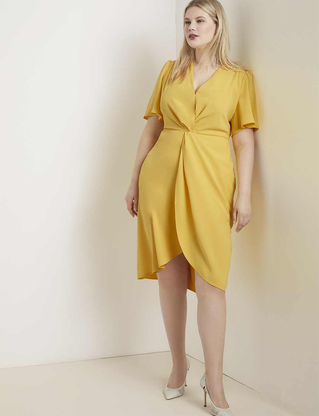 Twist Front Dress | Women\'s Plus Size Dresses | ELOQUII