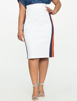 Sport Stripe Column Skirt